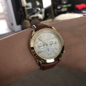 Michael Kors MK2251 gold and tan leather watch